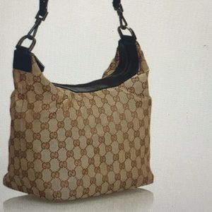 💯 Authentic GUCCI BAMBOO JACQUARD HOBO LIKE NEW!